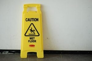 picture of a wet floor sign