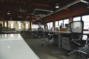 picture of a near empty office