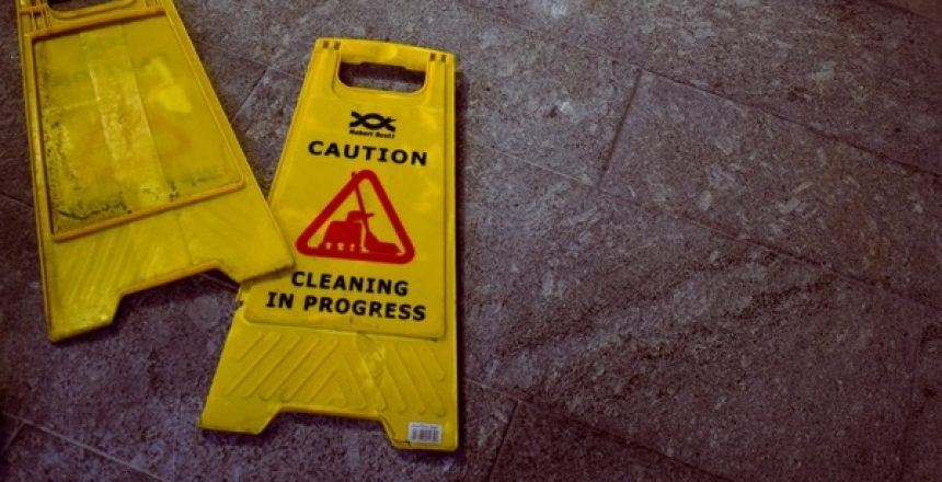 Wet Floor Sign, Cleaning Health and Safety Policy
