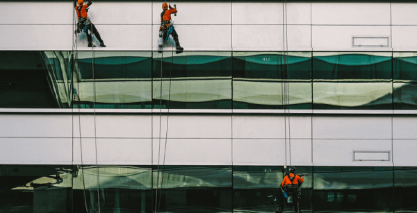 image of window cleaner, Office Cleaning and Maintenance for London